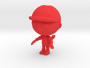 Plumber Character in Red Processed Versatile Plastic