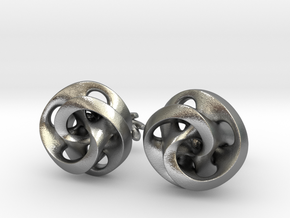 Mobius Cufflinks in Natural Silver