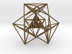 Sierpinski Tetrahedron and its Inversion in Natural Bronze