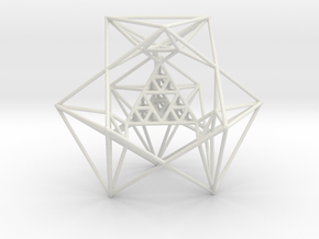 Sierpinski Tetrahedron and its Inversion in White Strong & Flexible