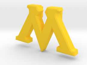 M Pin (No Hole)  in Yellow Processed Versatile Plastic