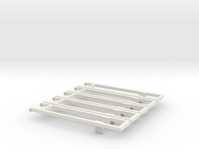 5 18' bed frame builder pack in White Natural Versatile Plastic