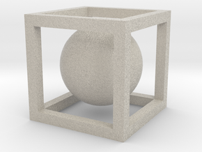 Sphere In A Cube in Sandstone