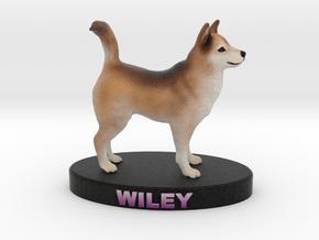 Custom Dog Figurine - Wiley in Full Color Sandstone