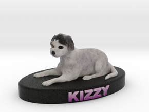 Custom Dog Figurine - Kizzy in Full Color Sandstone