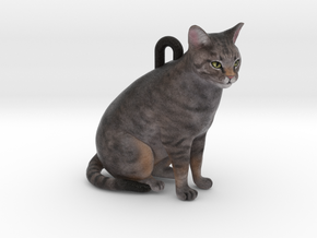 Custom Cat Ornament - Chessie in Full Color Sandstone