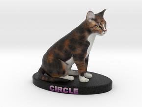 Custom Cat Figurine - Circle in Full Color Sandstone