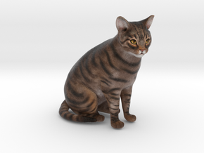 Custom Cat Figurine - Rosie in Full Color Sandstone