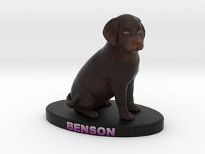 Custom Dog Figurine - Benson in Full Color Sandstone