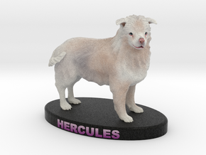 Custom Dog Figurine - Hercules in Full Color Sandstone