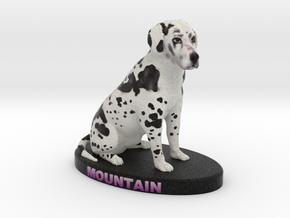 Custom Dog Figurine - Mountain in Full Color Sandstone