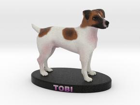 Custom Dog Figurine - Tobi in Full Color Sandstone