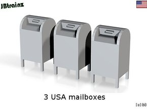 3 USA mailboxes (1:160) in Frosted Ultra Detail