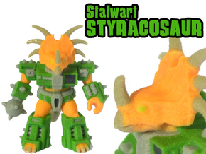 Stalwart Styracosaur (Colored Sandstone) in Full Color Sandstone
