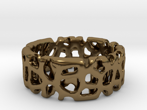 Voronoi Ultimate Man Ring in Polished Bronze