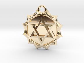 Anahata (Heart Chakra) Pendant in 14K Yellow Gold