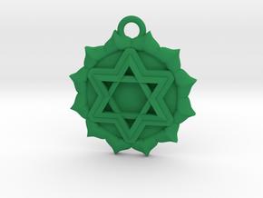 Anahata (Heart Chakra) Pendant in Green Processed Versatile Plastic