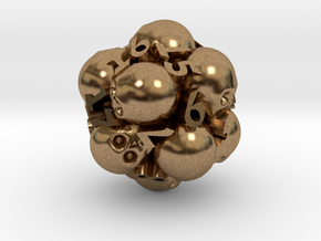 Spin-Down Ossuary d20 in Natural Brass