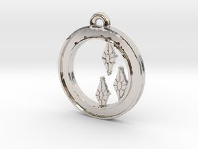 Rarity Cutie-mark Circle-pendant in Platinum