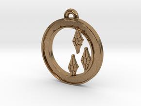Rarity Cutie-mark Circle-pendant in Natural Brass