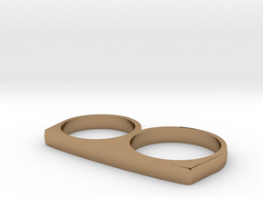 Dyplos Ring in Polished Brass