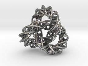 X-MAS Pendant_Mobius Torus Knot in Raw Silver