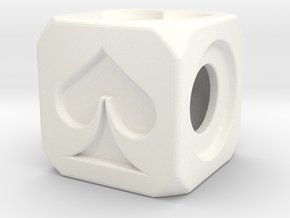 Dice in White Processed Versatile Plastic