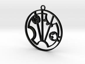 Scarlett - Necklace in Matte Black Steel
