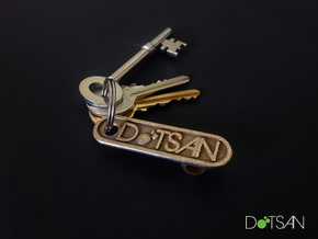 Personalized Bottle Opener Keychain in Stainless Steel