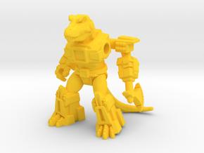 Crazed Carnotaurus in Yellow Processed Versatile Plastic