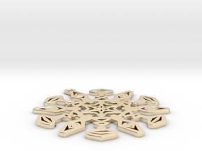 Large Snowflake Pendant in 14K Yellow Gold