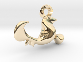 Rooster of Barcelos Pendant - Galo de Barcelos in 14K Yellow Gold