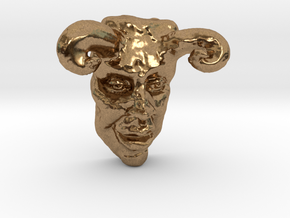 THE DEVIL (3 Inches  tall) in Natural Brass