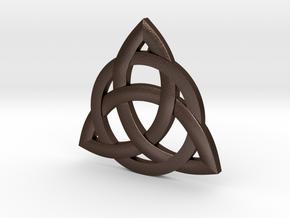 celtic pendant in Matte Bronze Steel