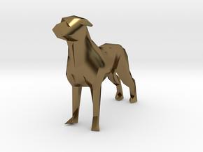 Ring Holder Dog in Polished Bronze