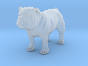 Bulldog  in Smooth Fine Detail Plastic