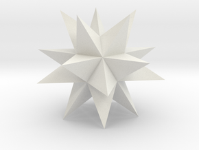 Great Stellated Dodecahedron in White Natural Versatile Plastic