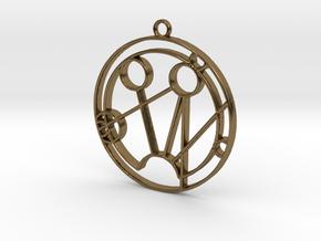 Samantha - Necklace in Polished Bronze