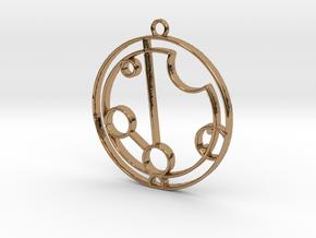 Payton - Necklace in Polished Brass