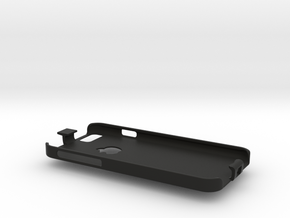 iPhone 6 case with lanyard loop in Black Natural Versatile Plastic