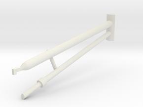 36A-J Mission-Pushing Rod Scenario 1 in White Natural Versatile Plastic
