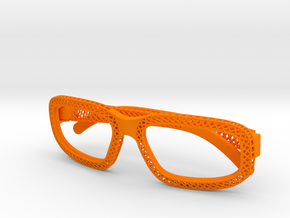'Hatch' glasses for Eyewear Kit in Orange Strong & Flexible Polished