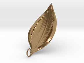 Leaf Necklace 1  in Natural Brass