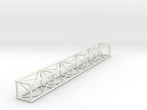 "1:24 10' 12""x12"" Box Truss in White Natural Versatile Plastic"