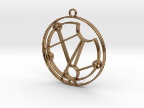 Maisie - Necklace in Natural Brass