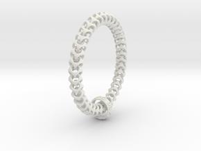 Cubichain Bracelet (Multiple sizes) in White Natural Versatile Plastic: Medium