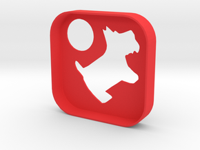 PimpMyTile: Woof cover in Red Strong & Flexible Polished