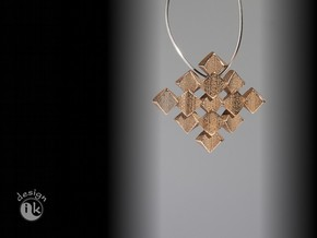 pendant twisted squares 1 in Stainless Steel