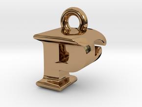 3D Monogram Pendant - PFF1 in Polished Brass