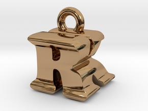 3D Monogram - RKF1 in Polished Brass